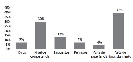 Principales limitantes para el crecimiento de la empresa